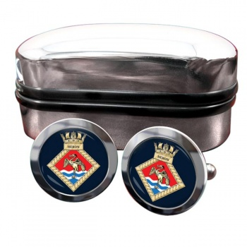 HMS Heron (Royal Navy) Round Cufflinks