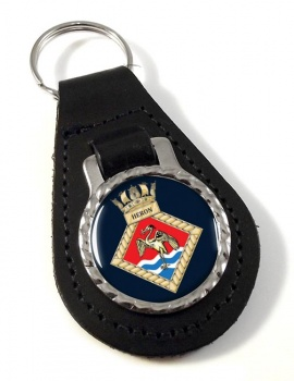 HMS Heron (Royal Navy) Leather Key Fob
