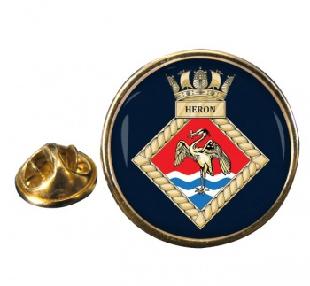 HMS Heron (Royal Navy) Round Pin Badge