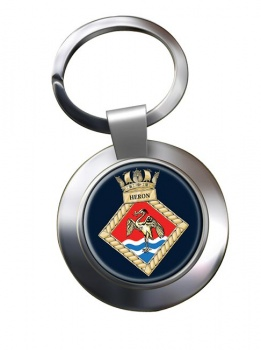 HMS Heron (Royal Navy) Chrome Key Ring