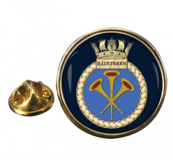 HMS Illustrious (Royal Navy) Round Pin Badge