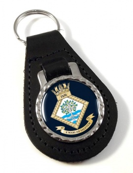 Institute of Naval Medicine (Royal Navy) Leather Key Fob