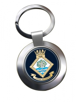 Institute of Naval Medicine (Royal Navy) Chrome Key Ring