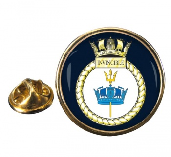 HMS Invincible (Royal Navy) Round Pin Badge