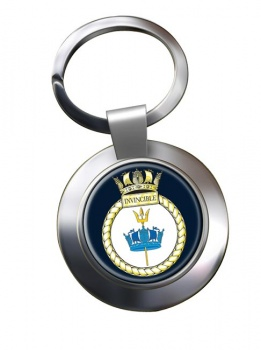 HMS Invincible (Royal Navy) Chrome Key Ring