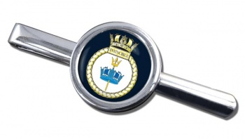 HMS Invincible (Royal Navy) Round Tie Clip