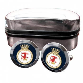 HMS Iron Duke (Royal Navy) Round Cufflinks