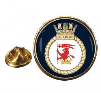 HMS Iron Duke (Royal Navy) Round Pin Badge