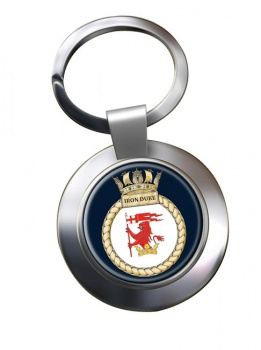 HMS Iron Duke (Royal Navy) Chrome Key Ring