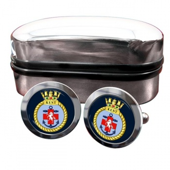 HMS Kent (Royal Navy) Round Cufflinks
