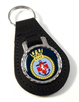 HMS Kent (Royal Navy) Leather Key Fob
