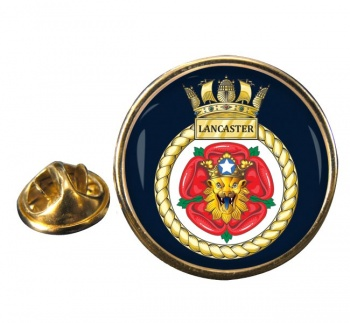 HMS Lancaster (Royal Navy) Round Pin Badge