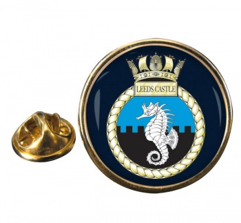 HMS Leeds Castle (Royal Navy) Round Pin Badge