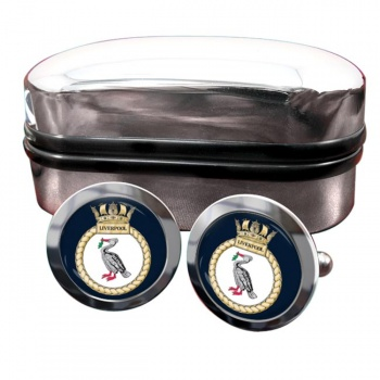 HMS Liverpool (Royal Navy) Round Cufflinks