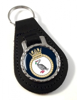 HMS Liverpool (Royal Navy) Leather Key Fob