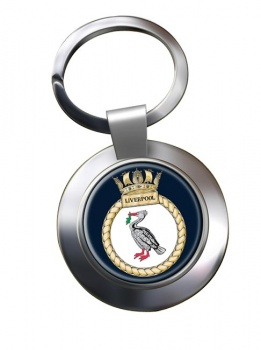 HMS Liverpool (Royal Navy) Chrome Key Ring