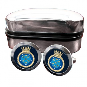 HMS Manchester (Royal Navy) Round Cufflinks
