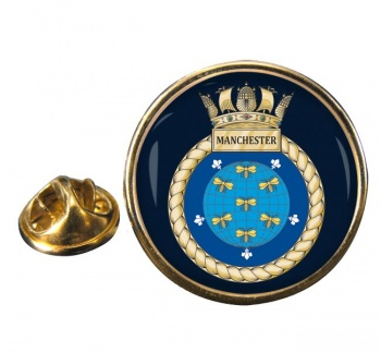 HMS Manchester (Royal Navy) Round Pin Badge