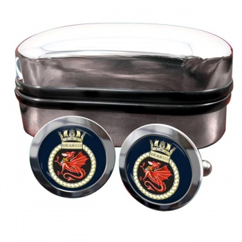 HMS Marlborough (Royal Navy) Round Cufflinks