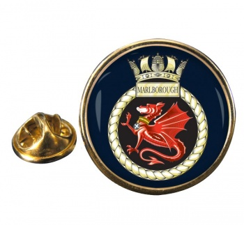 HMS Marlborough (Royal Navy) Round Pin Badge