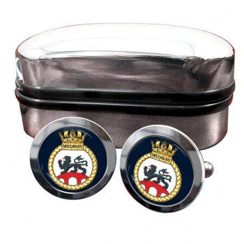 HMS Medway (Royal Navy) Round Cufflinks