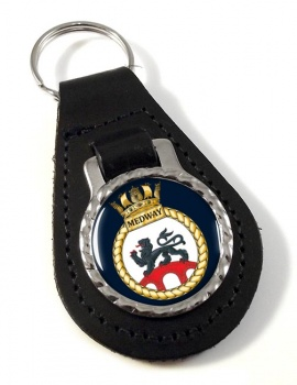 HMS Medway (Royal Navy) Leather Key Fob