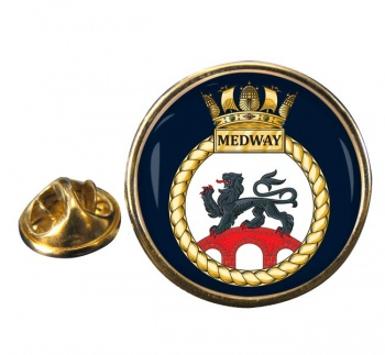 HMS Medway (Royal Navy) Round Pin Badge