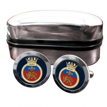 HMS Mersey (Royal Navy) Round Cufflinks