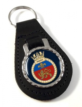 HMS Mersey (Royal Navy) Leather Key Fob