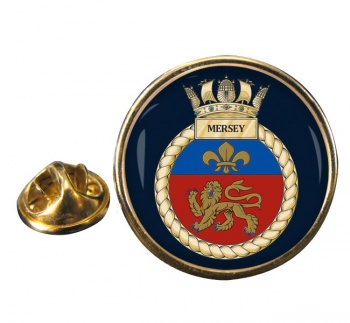 HMS Mersey (Royal Navy) Round Pin Badge