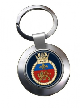 HMS Mersey (Royal Navy) Chrome Key Ring