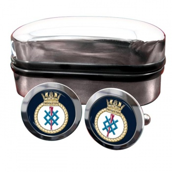 HMS Middleton (Royal Navy) Round Cufflinks