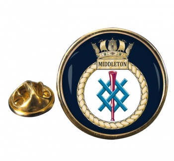 HMS Middleton (Royal Navy) Round Pin Badge