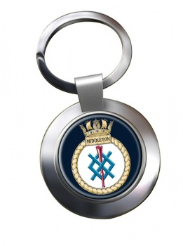 HMS Middleton (Royal Navy) Chrome Key Ring