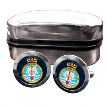 HMS Miner III (Royal Navy) Round Cufflinks