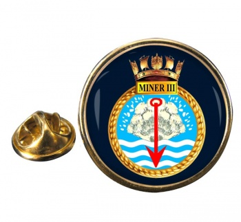 HMS Miner III (Royal Navy) Round Pin Badge