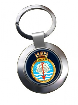 HMS Miner III (Royal Navy) Chrome Key Ring