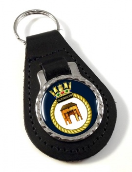 HMS Monmouth (Royal Navy) Leather Key Fob