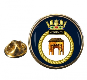 HMS Monmouth (Royal Navy) Round Pin Badge
