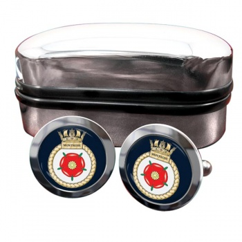 HMS Montrose (Royal Navy) Round Cufflinks