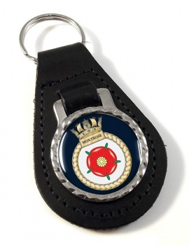 HMS Montrose (Royal Navy) Leather Key Fob