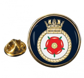 HMS Montrose (Royal Navy) Round Pin Badge
