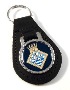 Maritime Warefare Centre (MWC) (Royal Navy) Leather Key Fob