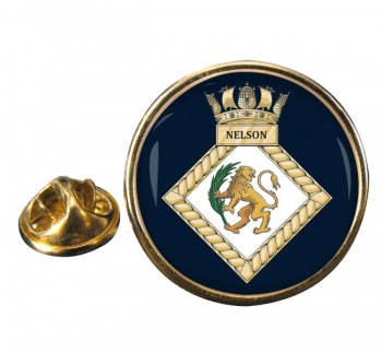 HMS Nelson (Royal Navy) Round Pin Badge