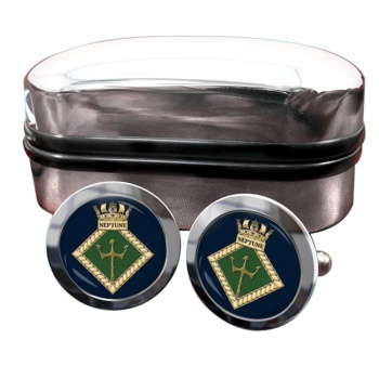 HMS Neptune (Royal Navy) Round Cufflinks
