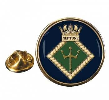 HMS Neptune (Royal Navy) Round Pin Badge