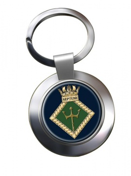 HMS Neptune (Royal Navy) Chrome Key Ring