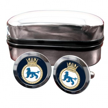 HMS Northumberland (Royal Navy) Round Cufflinks