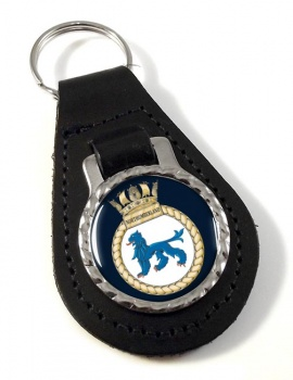 HMS Northumberland (Royal Navy) Leather Key Fob