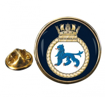 HMS Northumberland (Royal Navy) Round Pin Badge